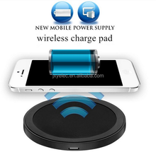 New design qi wireless charger receiver smart phone wireless mobile charger mini project for iphone
