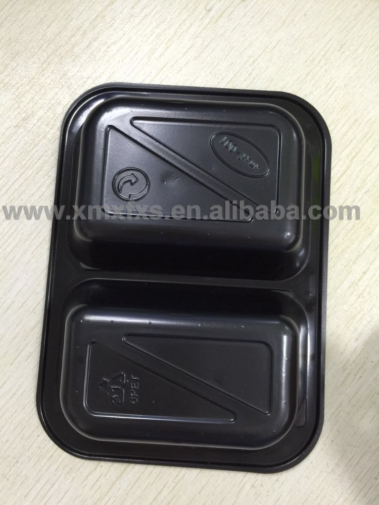 China CPET food container , takeaway fruit packing disposable food grade pp plastic flat tray