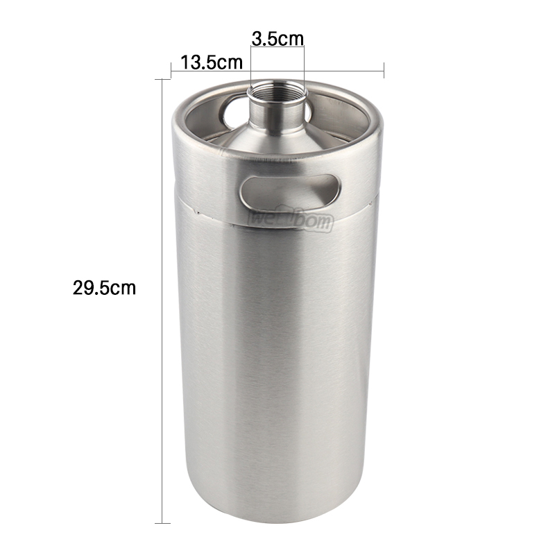 Best Bachelor Party Gift Food Grade carbonated mini 3.6 litre beer keg with laser printing