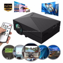 2017 best seller 1000LM 3D LED Projectors 1920 x 1080 AV USB2.0 HDMI VGA SD Mini Home Video Projector Screen TV Beamer GM60