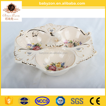 European Style Porcelain Fruit Bowl, Noble Painted Porcelain Flower Pot/Planter For Indoor Decoration