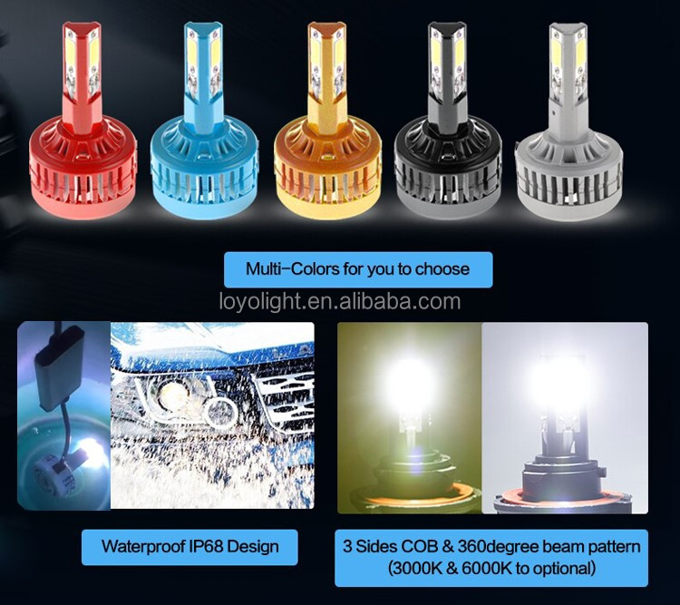 manufacturer led car headlight kit 9007 headlight bulb H/L converstion kit 3000k 6000k