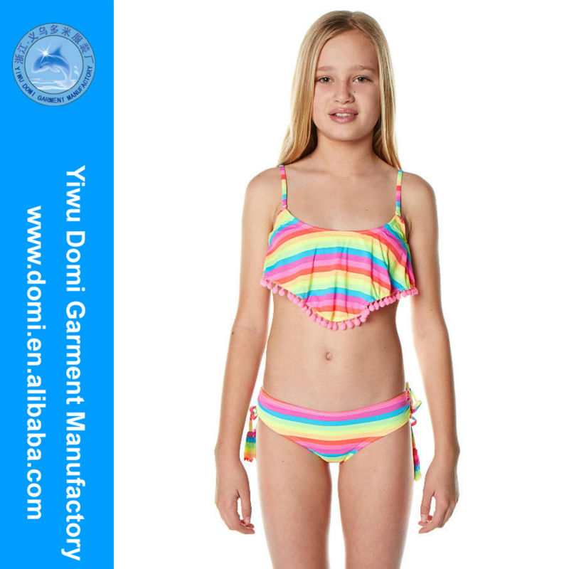 Domi sexy neon stripe kids bikini children photo sex,micro kids/girls bikini swimwear,young sexi girl bikini swimwear model