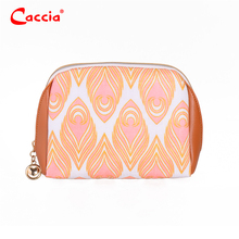 2017 Newest Makeup Bag Wholesale Small Toiletry bag Orange PVC Cosmetic Bag
