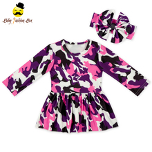 Latest design baby high quality dress long sleeve kids floral dress one piece wholesale