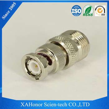 High quality N to BNC adapter plug female to male power adapter nickel plated adapter for europe