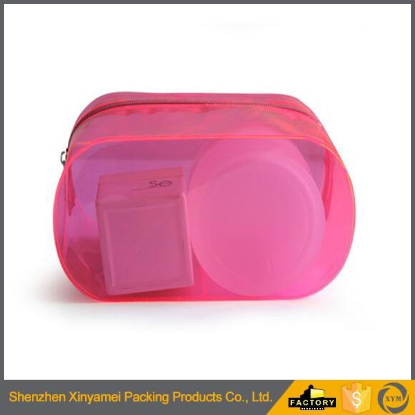 Promotional Newest Hot Factory Custome Lace PVC cosmetic bag with zipper