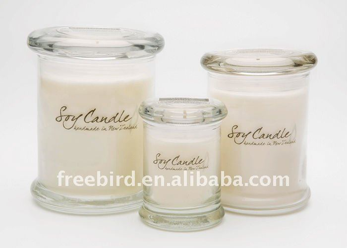Soy Gift Candle set in metro glass jar for Christmas