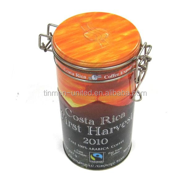 Hot sale air tea coffee round tin container