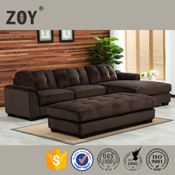 2016 hot selling morden fashion furniture drawing room sectional fabric sofa set 9609A