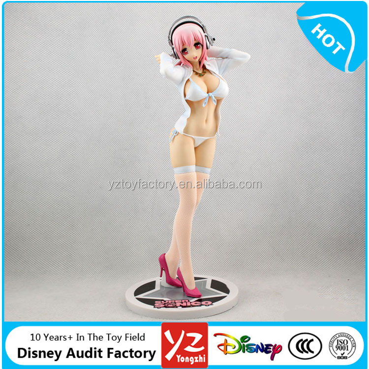 Custom 3D PVC Japan Sexy Anime Nude Girl Figure Super Sonico Sex Swimsuit Action Figure