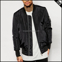 Side Pockets Ribbing Cuff Mens Fashion Jacket Wholesale Round Neck Zip Opening Custom Bomber Jackets
