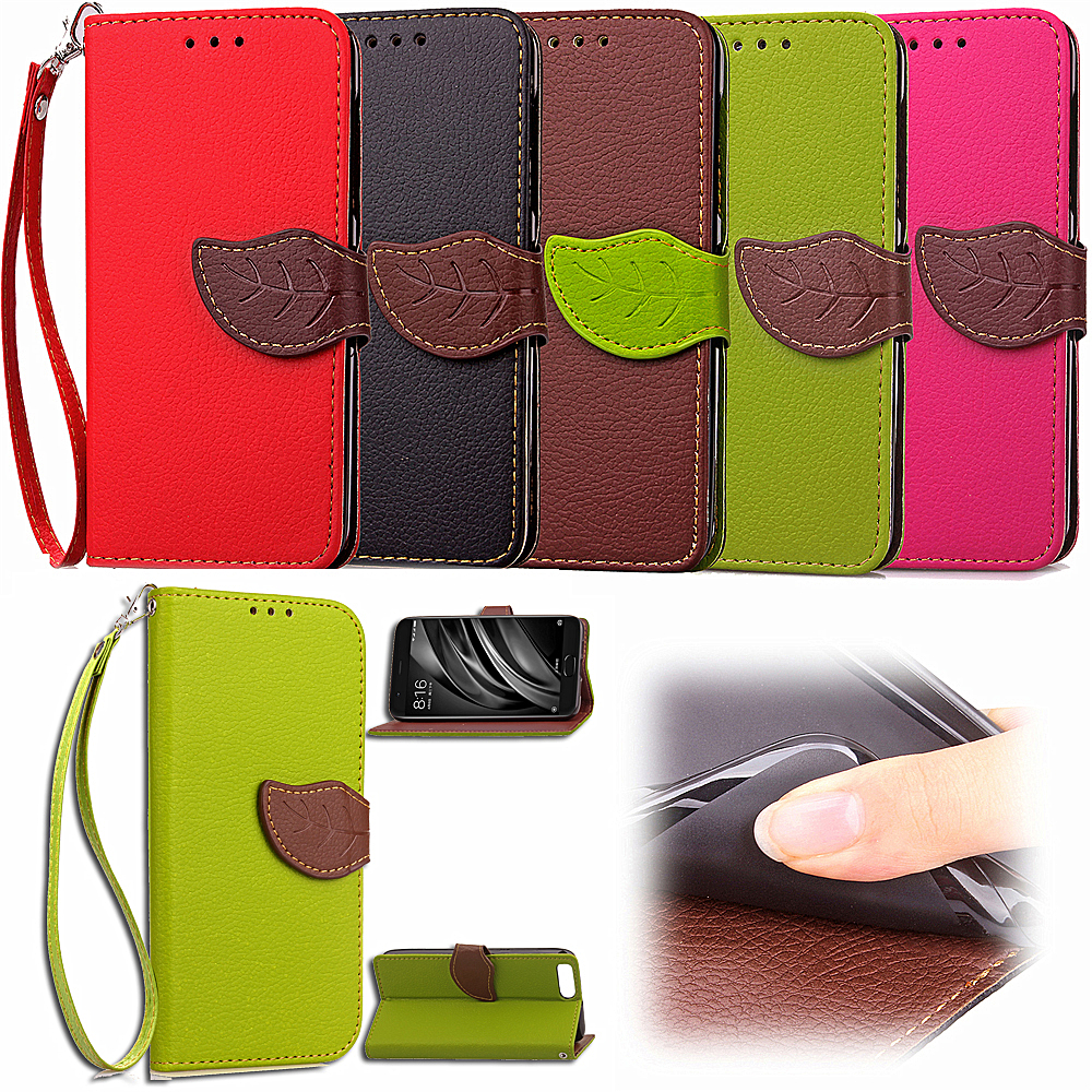(Support OEM) Factory Price PU Protective Defender Flip Wallet Phone Cover for xiaomi mi6 leather case for xiaomi 6 holster