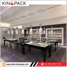 Fair price customized glass jewelry fitting display showcase table for jewellery showroom decoration