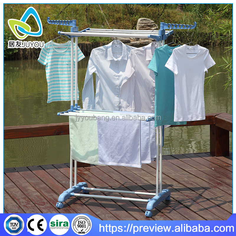 2 tier folding stand for ironing clothes