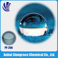 Composed of polyvinyl fluoride resin carbon is three finishing agent