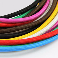 UL 2*0.75mm Colorful Vintage Retro woven wire Twist Braided Fabric Light Cloth Cable Electric Wire Chandelier Pendant Lamp Wires