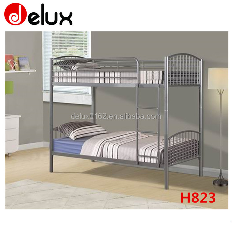 Adult Bunk Bed for Hostels Steel Metal School Student Dorm Bunk Bed Cheap Strong Army Military Dormitory Loft Bed Frame H823