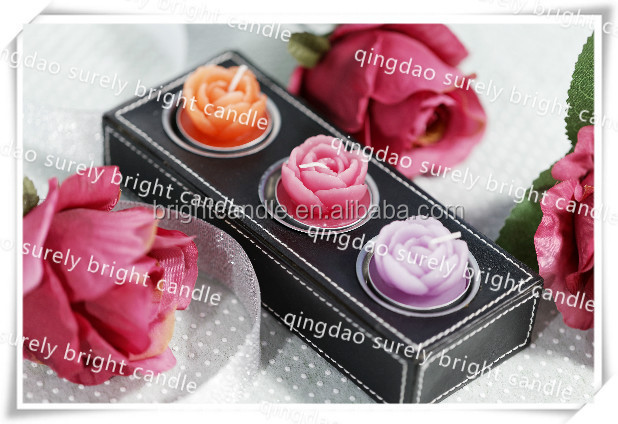 wedding candle gift giveaway rose shaped candles