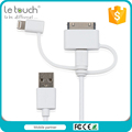 Custom logo 3 in 1 function cable 2.4A fast charge multi usb cable for all smart devices