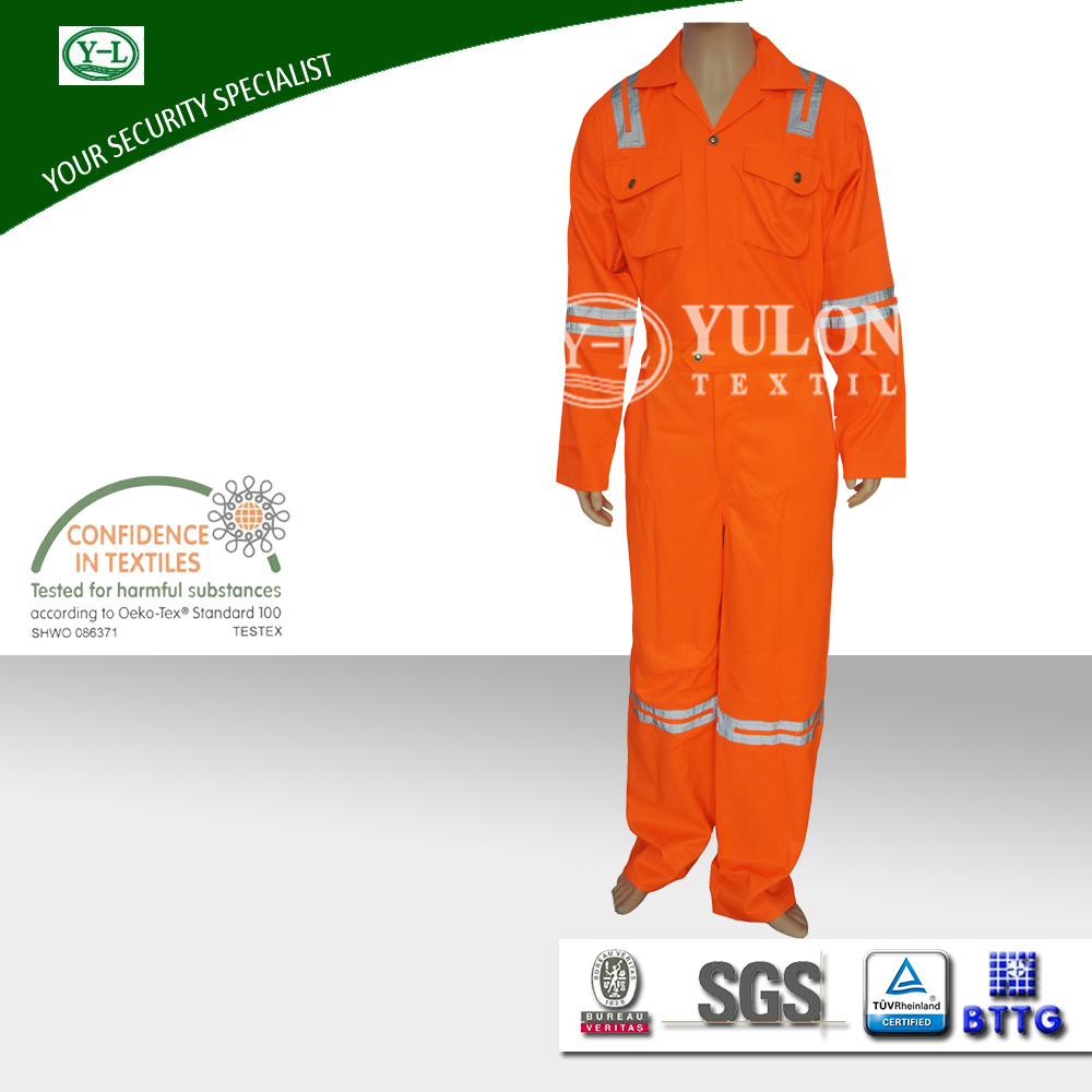 wholesale OEM service soft and breathable used in industry protection NFPA2112 100% cotton fire retardant work clothes for men