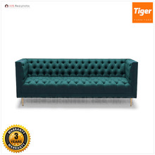 Italy home furniture fabric sofa scandinavian furniture 3 seat chesterfield velvet sofa