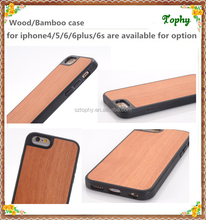 Best selling For iPhone 6S wood back cover TPU bumper case for iPhone 6/6S/6plus