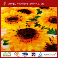 China Manufacturer High Quality sunflower Print Coral Fleece Fabric for blanket , home textile