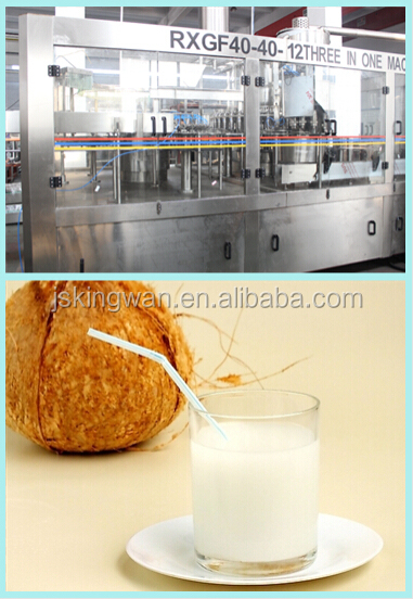 Hot sales 3 in 1 coconut / milk / fruit Juice filling machine in China