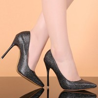 W20231G 2015 new design fashion nightclubs super high heels for women's shoes OL pointed single shoes
