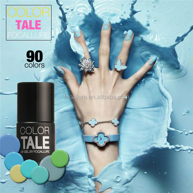 90 COLORS wholesale pure colors soak off cool curing color tale uv nail gel polish for nails beauty