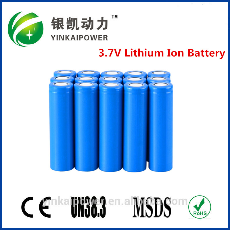 Rechargeable 3.7v cylinder lithium ion 2000mah 2200mah 2600mah 18650 Batteries with CE UN38.3 MSDS IEC62133