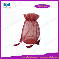 wholesale colored organza wine bottle bag