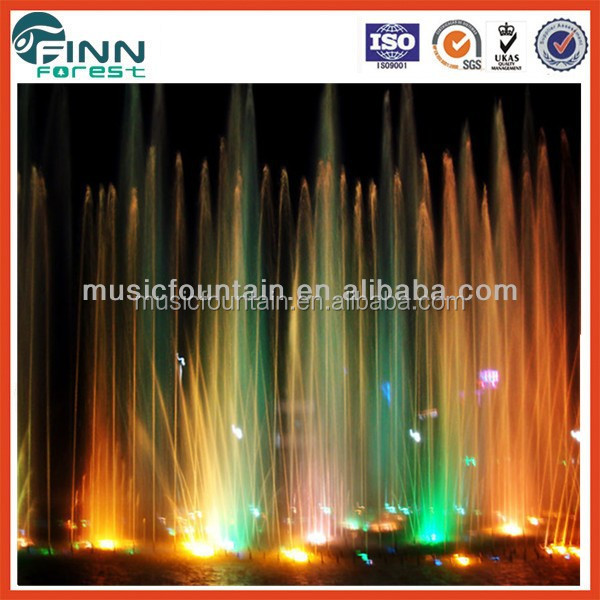 Guangzhou Factory supply stainless steel 304 metal garden colorful fountain