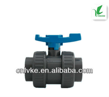 PVC True/Double Union Ball Valve With Socket Ends
