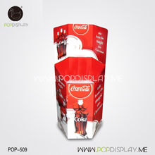 Supermarket Bottle Drink Beverage Retail Promotional Cardboard Dump Bin Display Stand