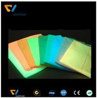 12 hours longer after glowing time various color luminous fabric glow sheet film