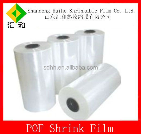 High shrinkage 12 mic pof shrink film with center folded type