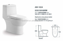 S-trap Siphonic One Piece Bathroom WC Toilet
