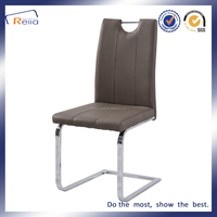 PU Leather Back Chrome Legs Dining Room Furniture,Commercial Dining Chair