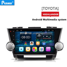 Pure android 6.0 10.1inch IN DASH CAR STEREO for Toyota Highlander (2009-2014) Support BT+Smart Phone+TPMS+Wifi+3G+Radio+BT+16G