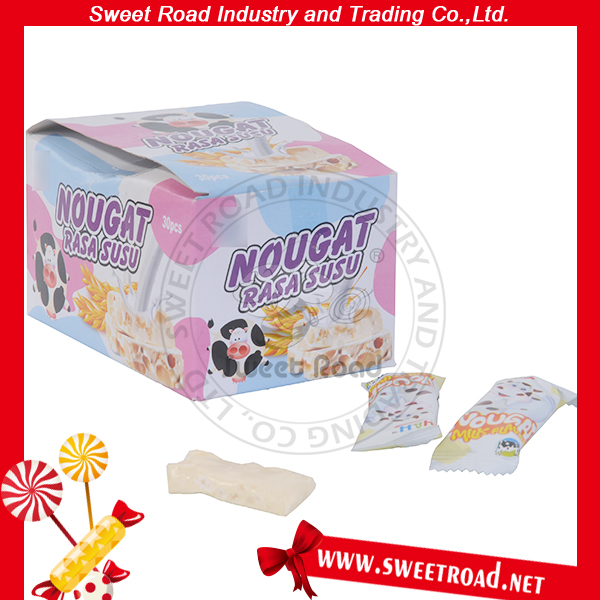 Good Tasted Nougat Milk with Peanut Candy
