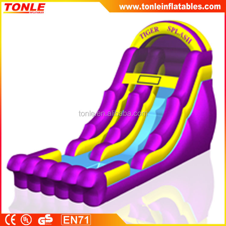 Professional inflatable 18ft Tiger Splash water slide for sale
