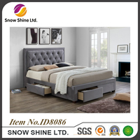 2017 queen storage wooden bed with drawers storage bed frame ID8086