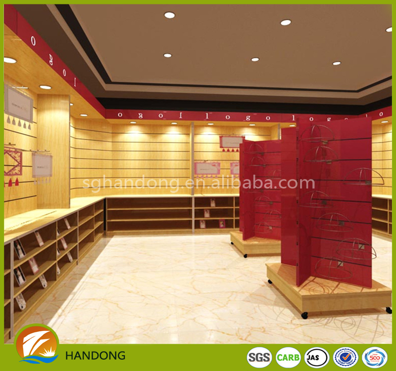 Alibaba China Supplier garment store furniture store fixtures Rotating slatwall display stand for Mobile accessories
