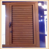 louver window frames and aluminum shutter window with fixed glass window