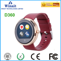 d360 heart rate watch with touch display round panel smart watch phone
