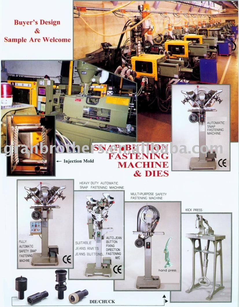 Snap Button Fastening & Press Machine & Dies