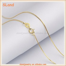 Fashion Jewelry 2017 dainty womens Gold plated 925 Sterling Silver Snake Chain Soft Snake Chain Necklace wholesale