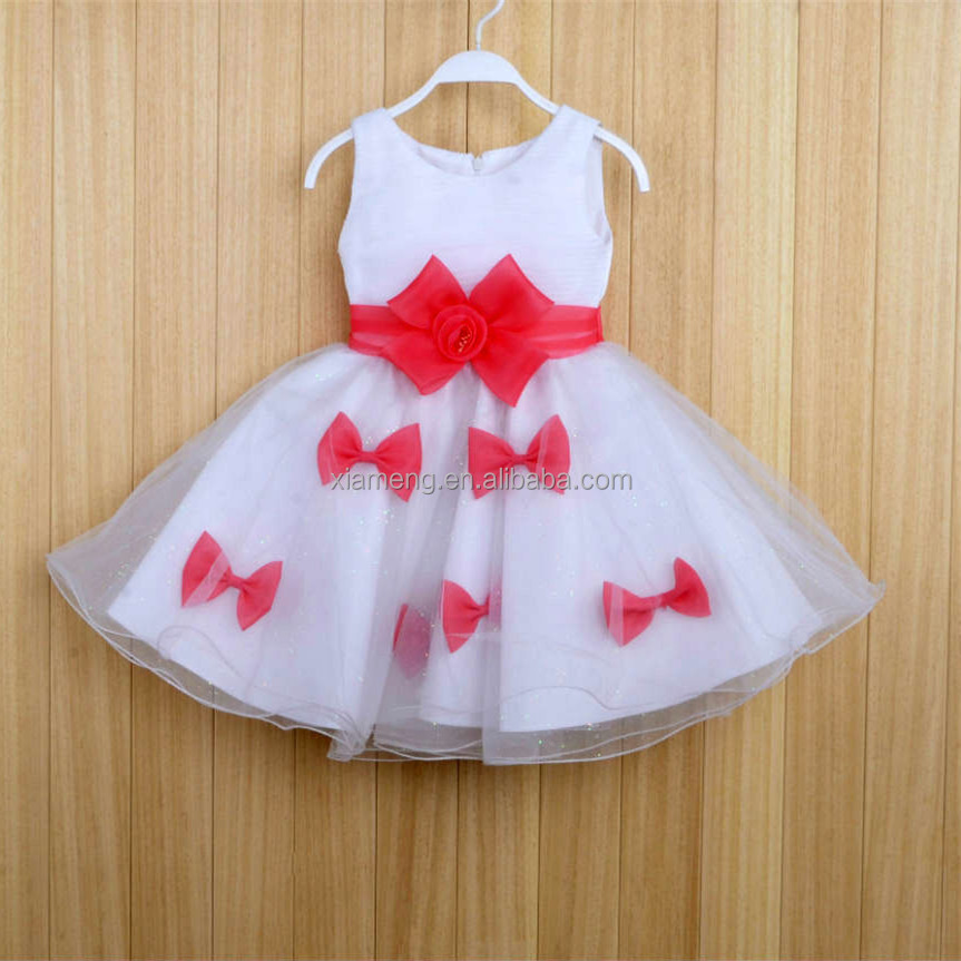 High quality princess wedding wear white ball gown dresses for kids